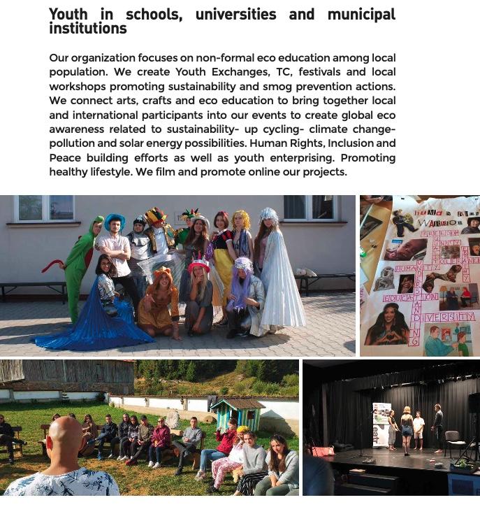 Młodzież uczestnicząca w projektach  Erasmus + Stowarzyszenie Młodych Artystów Eco Power, Wieliczka, Polska